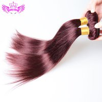 Wholesale Discount Remy Hair Mix - Beauty Hair Products red brazilian colored straight hair 2pcs lot 7a discount remy hair weave bundles 100% human quality on sale