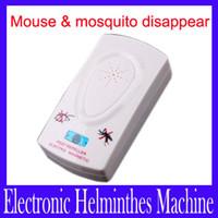 Wholesale Electronic Pest Control Machine - pest control Ultrasonic Pest Repeller Electronic Helminthes Machine 2pcs lot free shipping