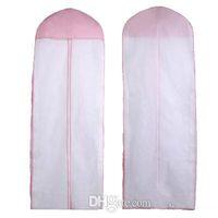 ingrosso borse per indumenti rosa-2016 Cheap spedizione gratuita No Logo Wedding Dress Bag Garment Cover Custodia da viaggio parapolvere Plus Size 180cm bianco rosa Accessori da sposa
