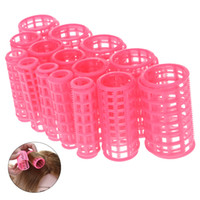 Wholesale Large Magic Sets - 15pcs set Plastic Hair Curler Roller Large Grip Styling Roller Curlers Hairdressing DIY Tools Styling Home Use Hair Rollers