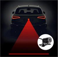 luzes traseiras conduzidas para carros venda por atacado-Anti Colisão Traseira-final Cauda Do Laser Do Carro 12 v LEVOU luz de Nevoeiro do carro Auto freio auto lâmpada de estacionamento de elevação do carro luz de advertência do carro styling
