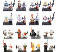 Wholesale Star Wars Legoland - Star Wars Yoda Sith Trooper Admiral Ackbar Building Blocks Legoland Model DIY Bricks Toys Figures Star Wars 7 PVC toy FREEDHL E131L
