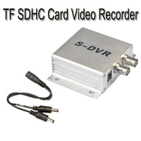 Wholesale Wholesale Dvr S - Mini S-DVR 1CH TF SDHC Card Video Recorder dvr for CCTV Cameras Time DHL freeshipping