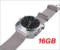 Wholesale Spy Watch Infrared - Free shipping 2015 new 1080p S2 built-in 16GB memory Spy silver wrist infrared night vision and voice control waterproof Watch Camera
