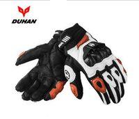 Wholesale Duhan Racing - DUHAN Motorcycle leather gloves Male full finger gloves Off-road racing gloves carbon fiber Motorbike gloves Drop resistance M L XL XXL