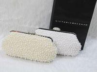 sparkle bags achat en gros de-Perle Sacs À Main De Mariée Beige Blanc Livraison Gratuite Sparkling Party Prom Événements Formels Sac À Main Pas Cher En Stock 2015 Accessoires De Mariage