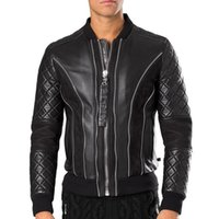 Wholesale Quality Motorcycle Jackets - Hight Quality Fashion New Winter Men Motorcycle Faux Leather 2018 Slim Thick patchwork The locomotive trend Leather Man Jackets plus size