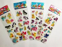 Wholesale Sheets For Girls - My little pony stickers for kid 7*17cm a sheet children stickers kid gift children party favors cartoon toy