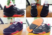 Wholesale Custom Shoe Boxes - 4 Colours (With Box) Wholesale High Quality Bryant Retro 5 V Low White Fire Red Black Custom Men Basketball Sport Trainers Shoes
