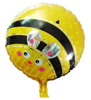 Wholesale Balloon Bee - Wholesale-18 inch Happy birthday bee balloon party balloon Aluminum balloons toy
