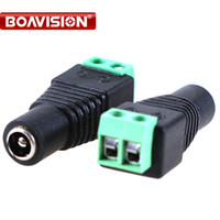 Wholesale Bnc Adapter Cable - 100pcs lot Female CCTV UTP Power Plug Adapter Cable BNC Connector