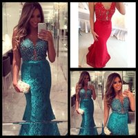 Wholesale Little Mermaid Ribbon - Fashion Design Sexy Sweetheart Lace Long Mermaid Dresses Party Evening 2015 Tulle Long Prom Dresses Special Occasion Dresses