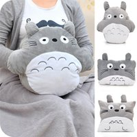 Wholesale Air Conditioned Pillow - Creative Lovely Plush Round My Neighbor Totoro Pillow Cushion+Blankets Pillow Air Conditioning Blanket Soft JK10