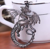 Wholesale Badges Games - Game of Thrones pendant necklace fashion men women COSPLAY Targaryen Dragon Badge chains Necklaces unisex charm jewelry drop shipping