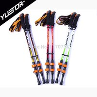 speed lock trekking poles - Speed lock carbon fiber material nordic walking stick retractable trekking poles cane