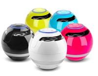 Wholesale wireless speakers indoor outdoor - Bluetooth Speaker Hands-free Phone Wireless Bluetooth Speakers TF Card Round Bass Cannon Outdoor Indoor Portable Mini Speakers
