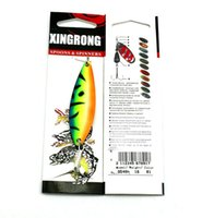 Wholesale sequin fishing lures for sale - Group buy High Quanlity Painted Sprayed Metal Sequin hard bait cm g Fishing lure spinnerbaits bass spinner bait