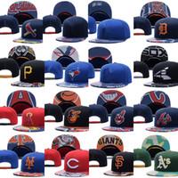 Wholesale Wholesale Snapback Hats Atlanta - Baseball Cap Atlanta Braves Oakland Athletics Baltimore Orioles Los AngelesCleveland Indians Fitted Cap Sport Fit Hat Snapback