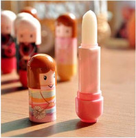Wholesale doll lip balm for sale - Group buy DHL Lip Balm Lipstick Cute Cartoon Lip Balm Kimono Doll Flavor Lip Balm Nourishing Moisturizing Women Xmas Gift