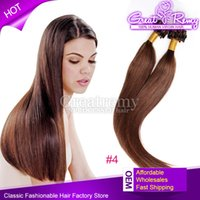 Wholesale Extention Remy - 100s Virgin#4 Micro Ring Loop Straight Hair Extension Colored Micro Ring Micro Loop Hair Extension Remy Loop Hair Extention