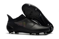 100% Original Full Black Colors X 17+ Purespeed Confed Cup Homens Sapatilhas de futebol Best Quality Football Boots Laceless ACE 17.1 Soccer Cleats