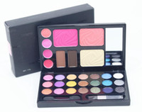 Wholesale Eye Shadow Lip Gloss - DANN 21Color shimmer Palette Eye Shadows eyeshadow palette Makeup Set Cosmetics (Blush,foundation,eyebraw,Lip Gloss,Eye shadow)156sets lot