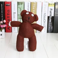 Wholesale Doll Beans - 5PCS 9'' Mr Bean Teddy Bear Animal Stuffed Plush Toy Brown Figure Doll