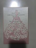 Wholesale wedding invitation cards samples laser cut for sale - Group buy laser cut lace white Wedding card Wedding Invitations Elegant Wedding Invitations Cards Birthday Business Party Invitations Cards Samples