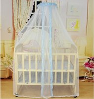 Wholesale toddler mosquito net online - Hot Summer Baby bed mosquito net Baby Toddler baby bed Crib Canopy Netting