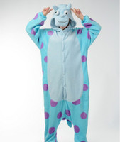 Wholesale Cute Apartments - Love Apartments flannel blue cow cute cartoon animal piece pajamas men and women lovers tracksuit