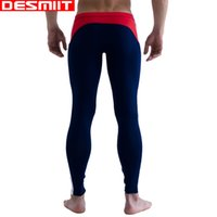 Wholesale Sexy Tops For Leggings - Top Quality Brand DESMIIT Long Johns Sexy Men's Thermal underwear to keep warm Mens Leggings Thermo underwear for men M L XL