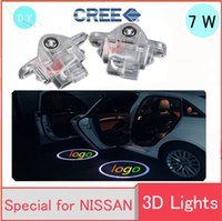 2X LED porta auto proiettore laser fantasma ombra logo luce Per NISSAN Murano SYLPHY X-Trail Old Teana 04-07year