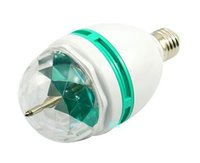 Wholesale Auto Dimmable - Wholesale-LED Crystal Stage Light Dimmable 3W E27 RGB Full Color Auto Rotating Stage Effect DJ Lamp Mini Stage Light Bulb L045