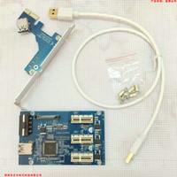 Wholesale Pci Slots - PCI-E to PCIe riser card 1 drag 3 1X interface expansion card 3-port PCIe slot mining card