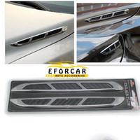 decoración de flujo de aire al por mayor-Capota del coche Decoración del lado frontal Automóvil Flujo de entrada de aire Etiqueta Shark Gills