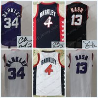 Phoenix 2017 Retro PHX Jersey Uomo Donna Gioventù, Firma bambini, 34 Charles Barkley 13 Steve Nash, Kid 4 <b>USA Dream Team</b> All Star CB SN Suns