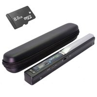 Barato Scanner De Mão-Atacado- Skypix TSN410 Portable Handheld 900dpi Scanner de documentos A4 OCR CIS USB 2.0 Scanner Tamanho A4 com 8 GB TF Card Carry Case A4 Scanner