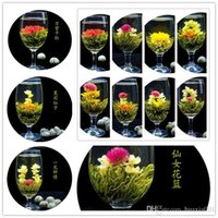 Wholesale Blooming Tea Art - 64pcs 16 styles kinds Blooming flower tea leaves Technology Scented tea Art viewing Blossom Flower Process Tea leaves free shipping