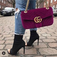 Wholesale Quality Barrels - Marmont shoulder bags women luxury brand Suede Velvet chain crossbody bag handbags famous designer purse high quality female bag AAA