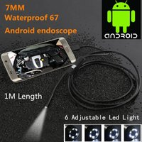 Compra Tubo Impermeabile Principale-Impermeabile 480P HD 7mm lente Tubo di ispezione 1m Endoscopio Mini USB Camera Snake Tube con 6 LED Boroscopio per Android Phone PC