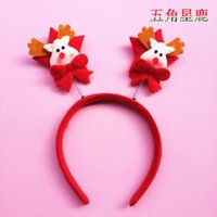 Wholesale Santa Headbands - Christmas Santa Claus hairpin Xmas Hairband Santa Clause Headband Headgear Kids Adults Christmas Party Dress Up Gift Festival Accessory
