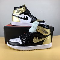 Wholesale Embroidered Lace Material - Air Retro 1 High OG NRG Gold Top 3 861428001 Material Man Basketball Shoes top quality with box size 7-13