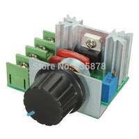 Wholesale Tracking Voltage Regulator - 2pcs lot 2000W 50-220V Adjustable Voltage Regulator PWM AC Motor Speed Control Controller Free SHipping order<$18no track
