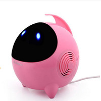 2.0 cartoon theatre - T3 Mini Speakers HIFI Music Player Lovely Alien Subwoofer Loudspeaker Cartoon Loudspeakers USB2 laptop speakers Portable Music Sound Box