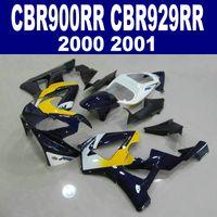 Wholesale Cbr929rr Fairing Kit - High quality fairing kit for HONDA CBR900RR CBR929 2000 2001 bodykits CBR 929 RR CBR929RR black yellow white fairings set HB17