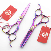 Wholesale Hair Salon Colours - Colour Hair Cutting Scissors & thinning shear Big white stone 5.5 INCH 440C Simple packing 1SET NEW