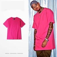 ingrosso maglietta rosa marrone-Mens Pink T Shirts Fashion Swag Brand Magliette Hip Hop Uomo in cotone O-Collo manica corta Tee Chris Brown 11 colori