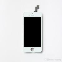 замена панели iphone оптовых-Черный белый ЖК-дисплей с сенсорным экраном дигитайзер полная сборка панелей для iPhone 5 5S 5c замена запасных частей бесплатная доставка