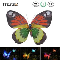 Wholesale Led Solar Butterfly Lights - Outdoor Solar Fiber Butterfly LED Lights Color Changing LED Solar Garden Lights for Garden Yard Decoration