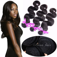 Wholesale Cheap 12 Inch Indian Remy - Brazilian Body Wave Hair Weaves 7A Cheap Virgin Remy Human Hair Extensions Peruvian Malaysian Indian Cambodian 100% Remy Human Hair Weaves